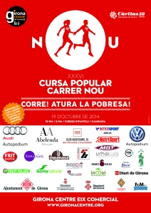 Cartell Cursa Carrer Nou Girona 2014